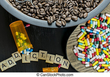 Addiction to coffee and drugs