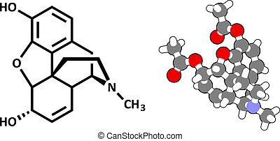 addictive., 痛み, あへん, molecule., 隔離された, 薬, 大いに, モルヒネ, ...