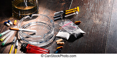 addictive, substâncias, álcool, drogas, cigarros, incluindo