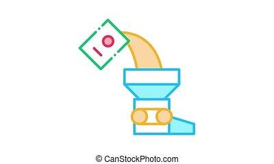 Adding Ingredient Icon Animation. color Adding Ingredient animated icon on white background