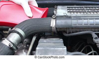 Adding Oil Of Car Engine