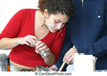 Adding some pepper - Pretty tunisian girl working in the ...