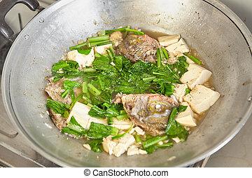 Adding vegetable