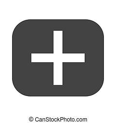 addition, symbole, math, icône