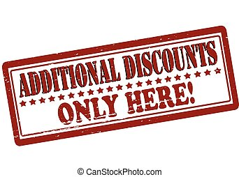 Additional discounts - Rubber stamp with text additional ...