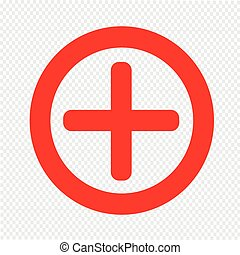 Additional plus Icon symbol Illustration design