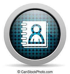 address book glossy icon