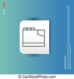 Address book icon - Blue Sticker button