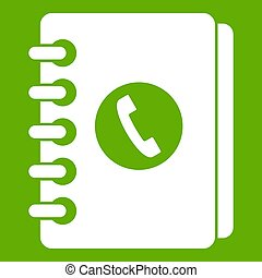 Address book icon green