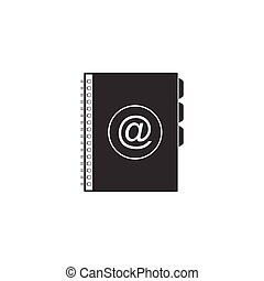 Address book icon isolated. Notebook, address, contact, directory, phone, telephone book icon. Vector Illustration