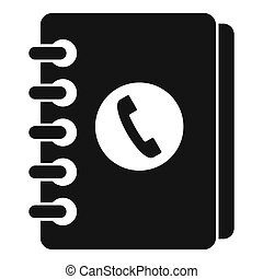 Address book icon, simple style