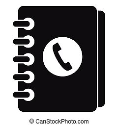 Address book icon, simple style - Address book icon. Simple ...