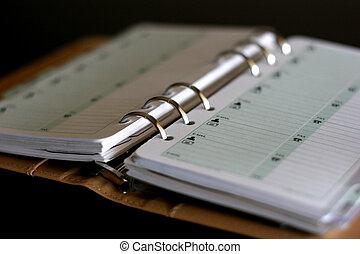 address book in organizer