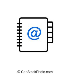 Address Book vector icon isolated on the white