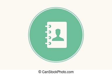 Address book vector icon sign symbol