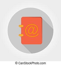 Address book. Vector illustration.