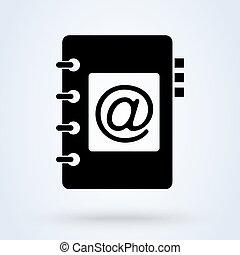 address book. vector Simple modern icon design illustration.