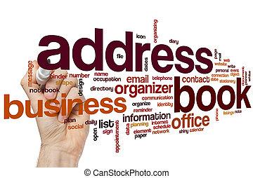 Address book word cloud concept