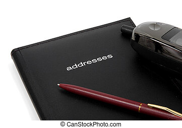 Addressbook, Phone and a Pen