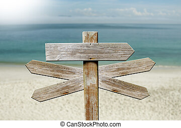 addresses of wood on the beach sign