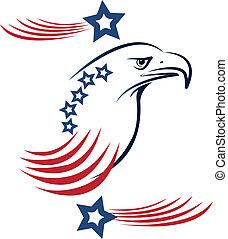 adelaar, amerikaan, logo