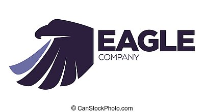 adelaar, company., vogel, fantasie, mal, innovatie, logo, veiligheid, of