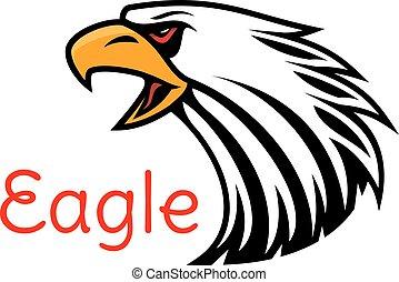 adelaar, emblem., vector, het schreeuwen, havik, pictogram