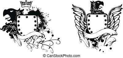 adelaar, heraldisch, armen, set10, jas
