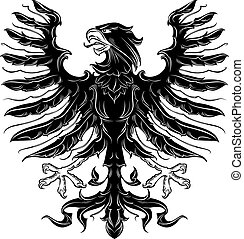 adelaar, heraldisch, black