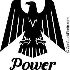 adelaar, heraldisch, vector, black , gotisch, pictogram