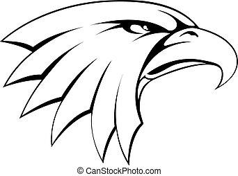 adelaar, hoofd, kaal, pictogram