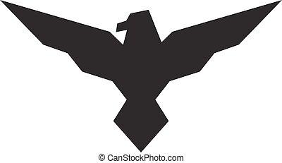 adelaar, illustratie, achtergrond., vector, black , logo, witte