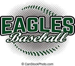 adelaar, ontwerp, honkbal