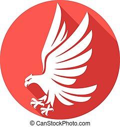 adelaar, plat, pictogram