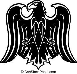 adelaar silhouette, black