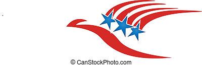adelaar, symbool, vliegen, usa, logo