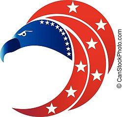 adelaar, usa, symbool, vlag, amerikaan, logo