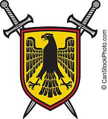 adelaar, zwaarden, gekruiste