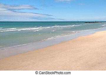 Adelaide beach - empty beach adelaide australia