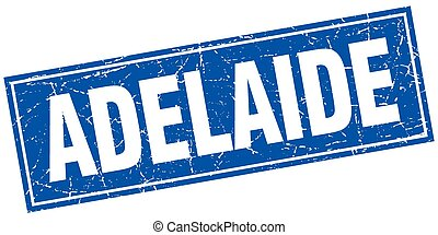 Adelaide blue square grunge vintage isolated stamp