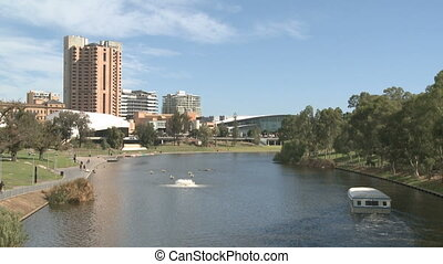 Adelaide Cityscape with the River Torrens and park
