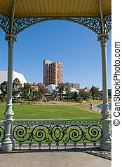 Adelaide - Part of the adelaide skyline framed by Elder Park...