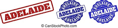 ADELAIDE Scratched Stamp Seals