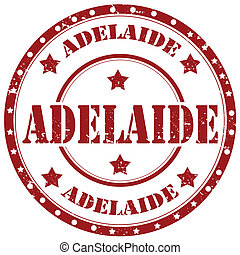 Adelaide-stamp - Grunge rubber stamp with text Adelaide, ...