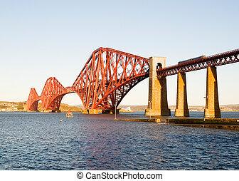 adelante, puente, en, escocia