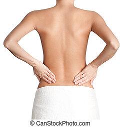 adelgaçar, cintura, de, atlético, mulher