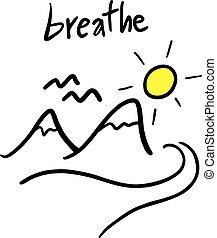 ademen, boodschap