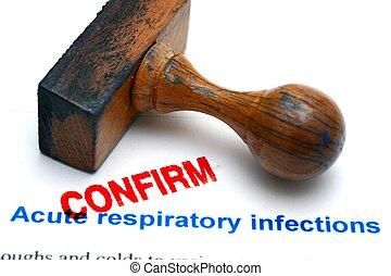 ademhalings, infecties, bevestigen