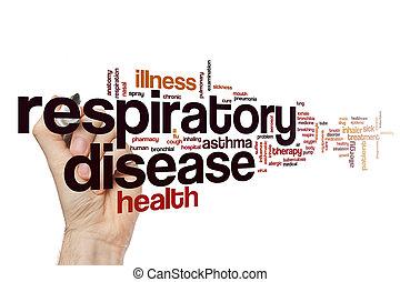 ademhalings, ziekte, woord, wolk
