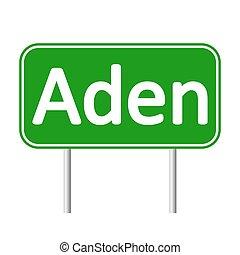 Aden road sign.